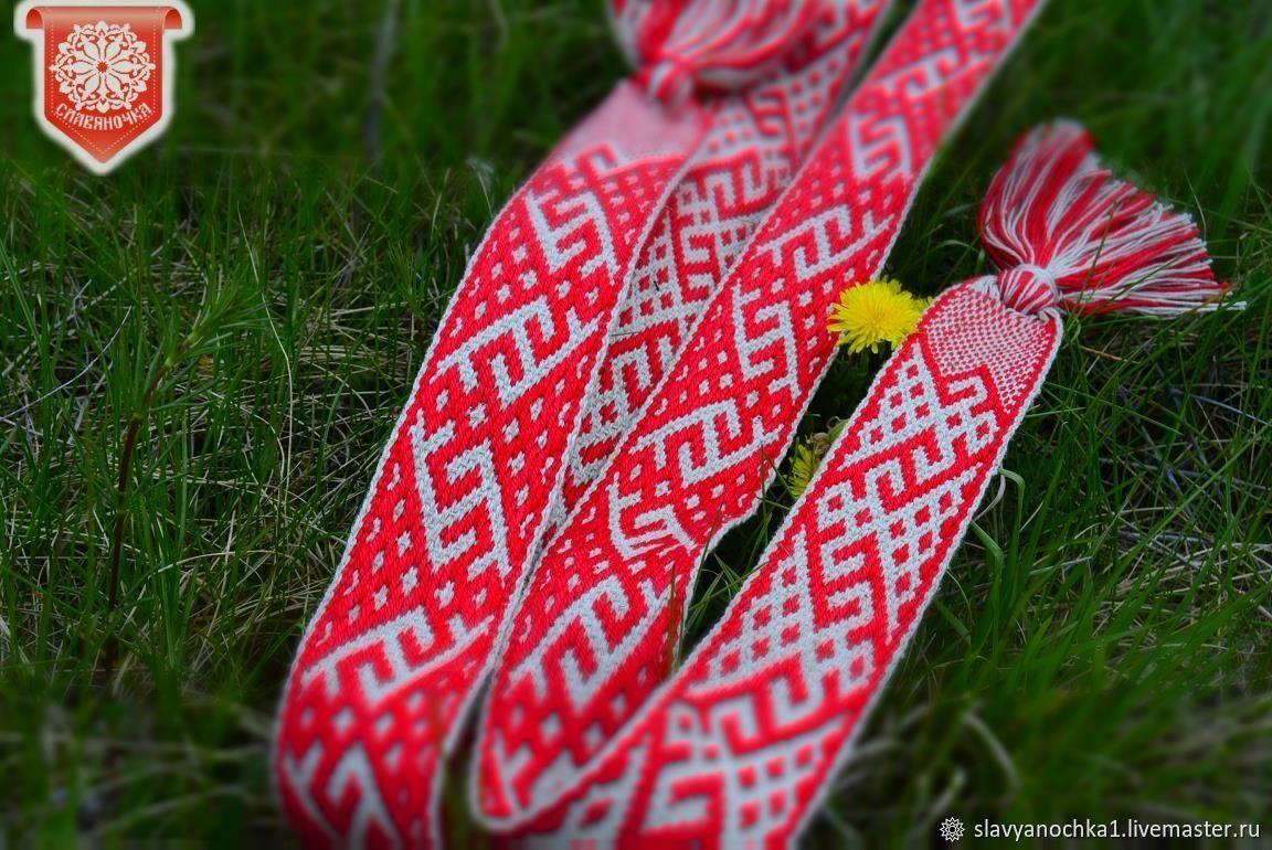 Women's Lada belt white-red, Belts and ribbons, Chrysostom,  Фото №1