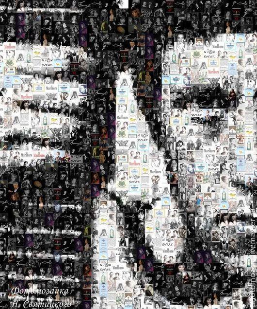 """Фото-работы ручной работы. Ярмарка Мастеров - ручная работа. Купить Фотомозаика """"Высоцкий"""". Handmade. Фотомозаика, оригинальный подарок, портрет"""