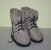 Обувь ручной работы. Ярмарка Мастеров - ручная работа Валенки-ботинки детские. Handmade.