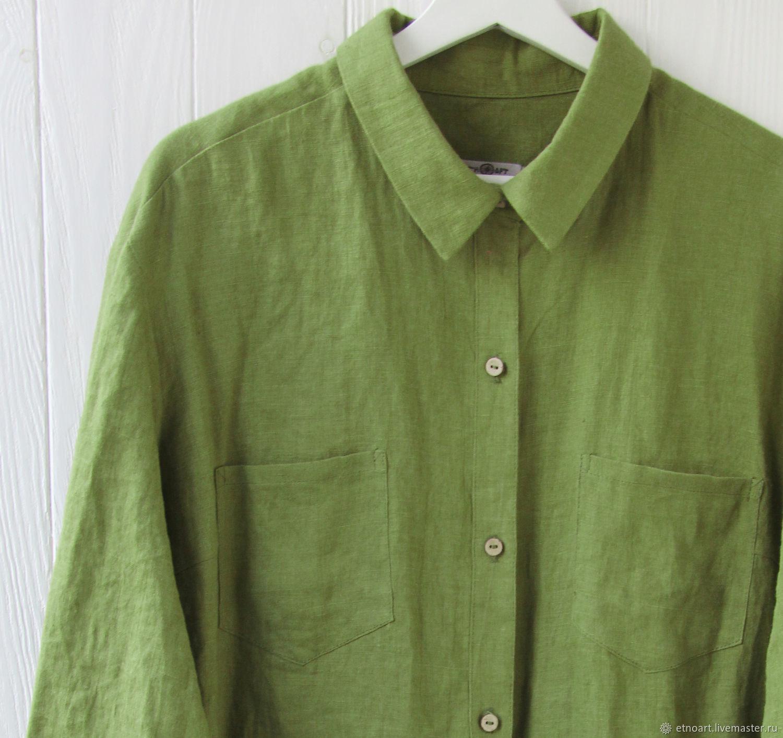 Женская рубашка оверсайз из 100% льна, Рубашки, Томск,  Фото №1