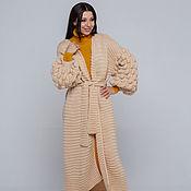 Одежда handmade. Livemaster - original item Long beige cardigan. Handmade.