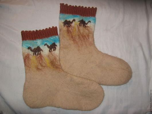 """Носки, Чулки ручной работы. Ярмарка Мастеров - ручная работа. Купить Носочки """"Сахара"""". Handmade. Бежевый, носочки женские"""