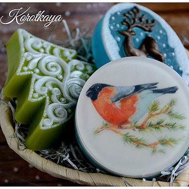 """Косметика ручной работы. Ярмарка Мастеров - ручная работа """"Зимний лес"""" Новогодний набор мыла. Handmade."""