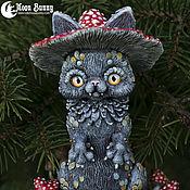 Для дома и интерьера ручной работы. Ярмарка Мастеров - ручная работа Лесной дух Mushroom Kitty. Handmade.
