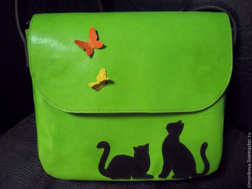 Кошки-бабочки на травке, Женские сумки, Коломна, Фото №1