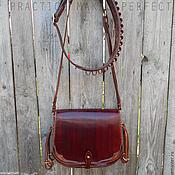 Сумки и аксессуары handmade. Livemaster - original item Hunting bag leather, yet feels and bandolier Labour. Handmade.