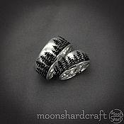 "Свадебный салон handmade. Livemaster - original item Silver Wedding Rings ""Magic Forest"". Handmade."
