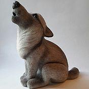Куклы и игрушки ручной работы. Ярмарка Мастеров - ручная работа Войлочная Волчица ЛУна. Handmade.