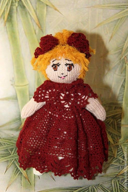Человечки ручной работы. Ярмарка Мастеров - ручная работа. Купить Вязаная игрушка. Кукла Катрин. Handmade. Разноцветный, кукла вязаная
