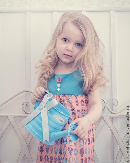 Одежда для девочек, ручной работы. Ярмарка Мастеров - ручная работа. Купить Детское платье с жучками/Детский сарафан/Летнее платье для девочек. Handmade.
