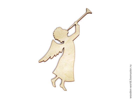 Декупаж и роспись ручной работы. Ярмарка Мастеров - ручная работа. Купить Деревянная заготовка Ангел с трубой. Handmade. Заготовки для творчества