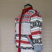 Одежда ручной работы. Ярмарка Мастеров - ручная работа Красный шерстяной свитер- пальто PТ-3. Handmade.