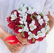 Свадебные букеты ручной работы. Ярмарка Мастеров - ручная работа Букет невесты из полимерной глины. Handmade.