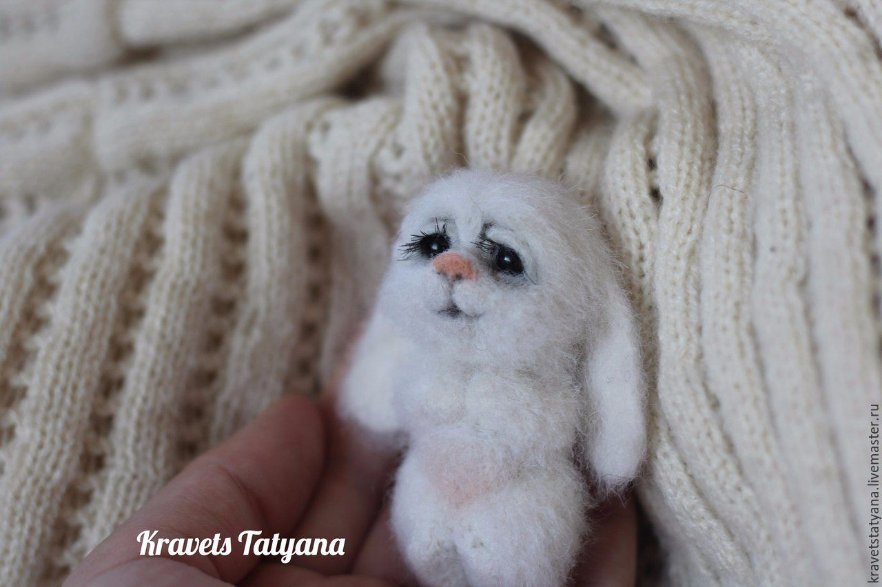 the author's felt brooch little sweetie, Felted Toy, Kuragino,  Фото №1