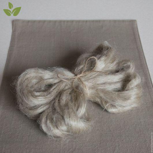 Валяние ручной работы. Ярмарка Мастеров - ручная работа. Купить Волокна льна, натуральный, 10 гр.. Handmade. Лен