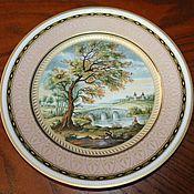 Винтаж handmade. Livemaster - original item Large decorative plate, author K. Directly from Kaiser, Germany. Handmade.