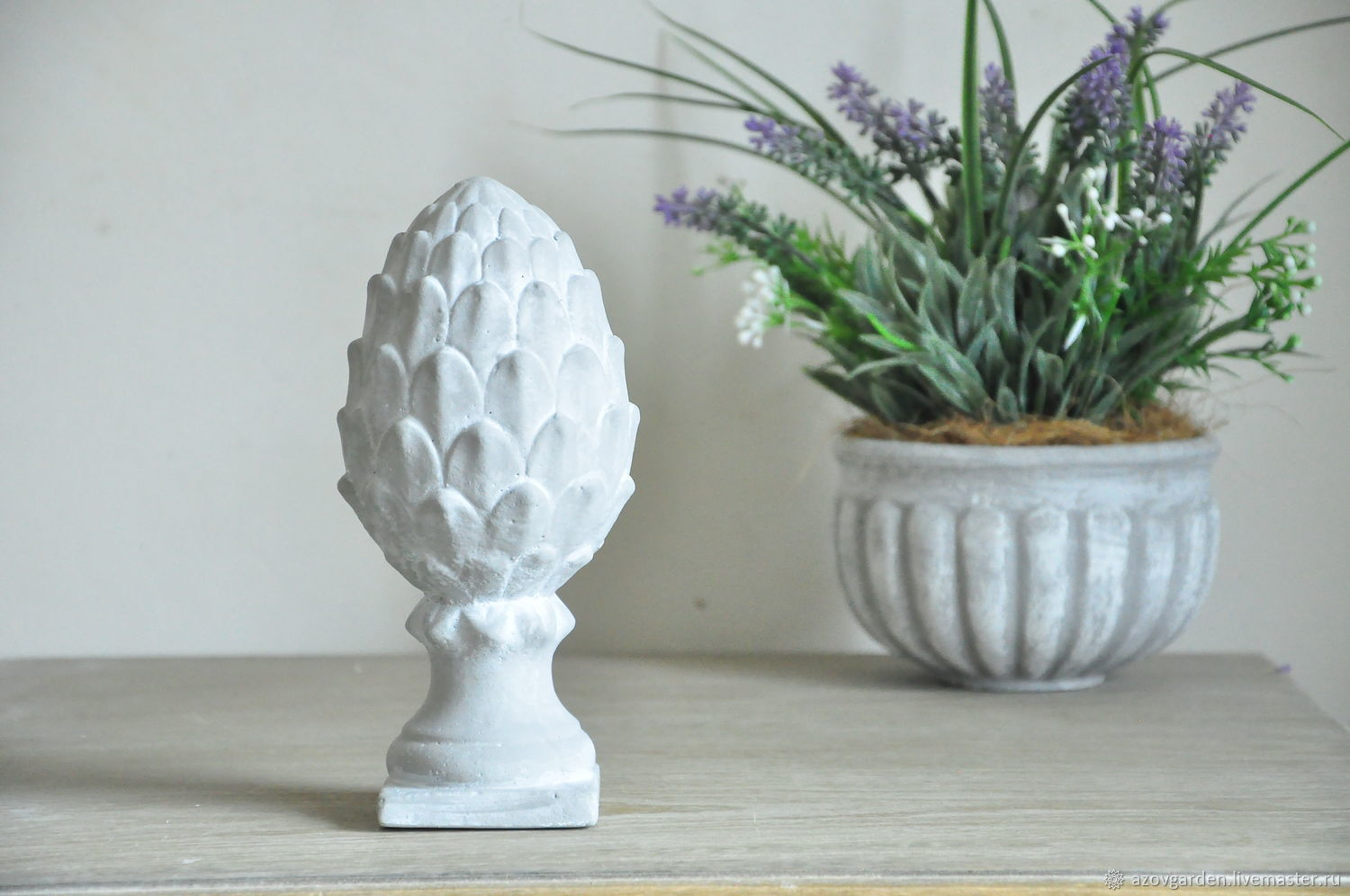 Figurines handmade. Livemaster - handmade. Buy Statue of an Artichoke in concrete grey in the style of Provence Shabby.