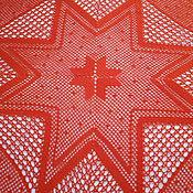 """Для дома и интерьера ручной работы. Ярмарка Мастеров - ручная работа Скатерть вязаная крючком """"Новогодняя"""". Handmade."""