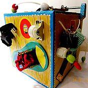 """Бизиборды ручной работы. Ярмарка Мастеров - ручная работа Бизиборд """"БизиКуб"""". Handmade."""