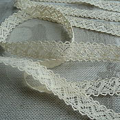 Материалы для творчества handmade. Livemaster - original item Lace cotton beige 1,5 cm