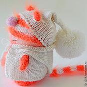 """Куклы и игрушки ручной работы. Ярмарка Мастеров - ручная работа Вязаный Кот """"Рыжий Полосатик"""". ( Игрушки коты. Вязаные пушистики ). Handmade."""