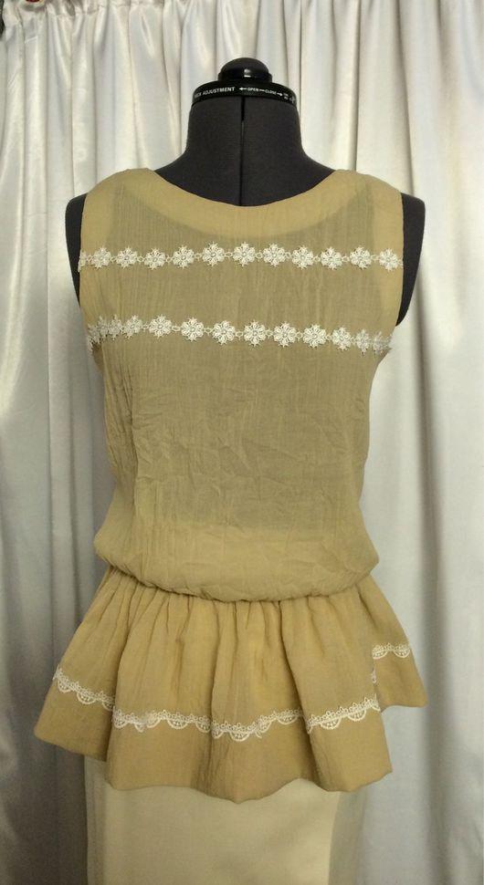 Блузки ручной работы. Ярмарка Мастеров - ручная работа. Купить Блузка летняя с баской. Handmade. Блузка, блузка летняя