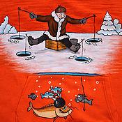 """Одежда ручной работы. Ярмарка Мастеров - ручная работа Толстовка """" Зимняя рыбалка"""". Handmade."""