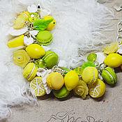 Украшения ручной работы. Ярмарка Мастеров - ручная работа Браслет Лимонный фрэш. Handmade.