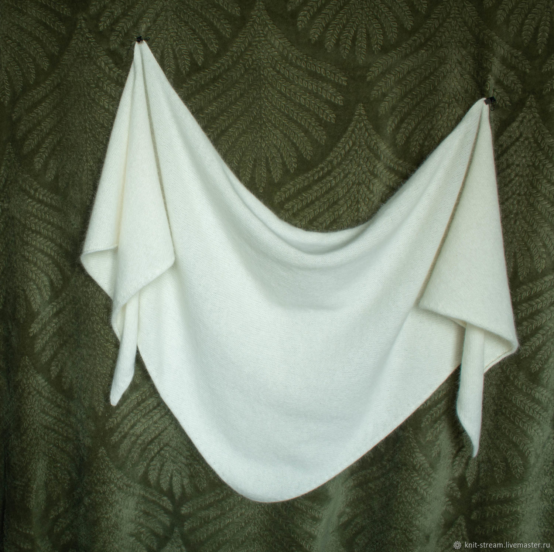 Косынка вязаная / платок / бактус из ангоры, Платки, Москва,  Фото №1