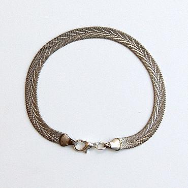 Vintage. Livemaster - original item Vintage silvertone bracelet. Handmade.