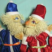 Куклы и игрушки handmade. Livemaster - original item Red Nose and Blue Nose. Glove puppet Santa Claus.. Handmade.