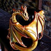 """Посуда ручной работы. Ярмарка Мастеров - ручная работа Кружка """"Золотой Дракон"""". Handmade."""