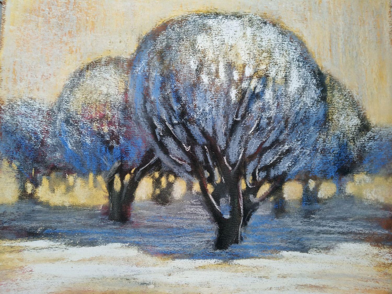 Пейзаж ручной работы. Ярмарка Мастеров - ручная работа. Купить Картина 'Иней'. Handmade. Зима, деревья, природа, авторская работа