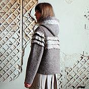 Одежда handmade. Livemaster - original item The felt jacket of undyed wool, 44-48 R.. Handmade.
