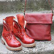 Сумки и аксессуары handmade. Livemaster - original item Clutch bag with chain genuine leather Vanilla. Handmade.