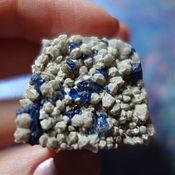 Фен-шуй и эзотерика handmade. Livemaster - original item Wonderful stone blue-blue fluorite on a quartz matrix. Handmade.