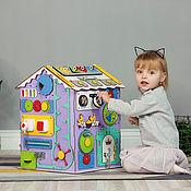 Бизиборды ручной работы. Ярмарка Мастеров - ручная работа Бизидом Макси фиолетовый и серый. Handmade.