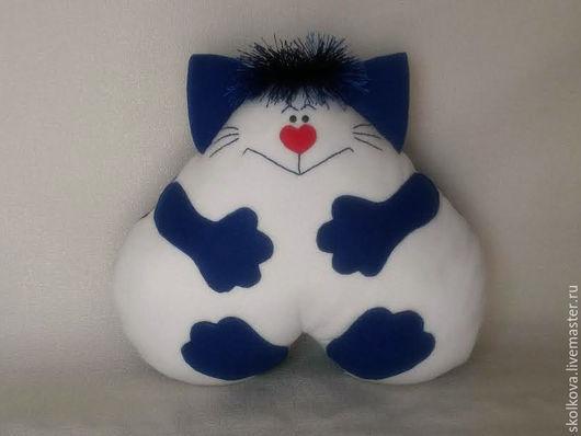 Детская ручной работы. Ярмарка Мастеров - ручная работа. Купить Подушка-игрушка Веселый Кот. Handmade. Подушка декоративная, флис