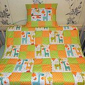 """Лоскутное одеяло """"Озорные жирафики""""."""