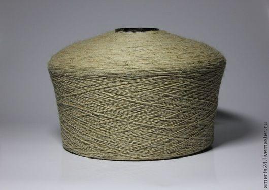 Вязание ручной работы. Ярмарка Мастеров - ручная работа. Купить Шерсть овечья, песочная. Handmade. Бежевый, пряжа в мотках