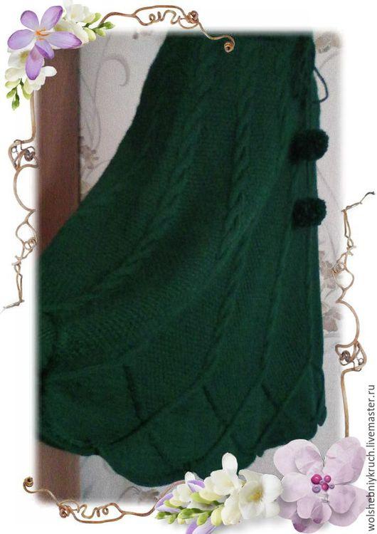 Юбки ручной работы. Ярмарка Мастеров - ручная работа. Купить Вязаная юбка полусолнце. Handmade. Болотный, вязаная юбка на заказ