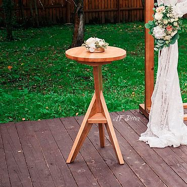 Свадебный салон ручной работы. Ярмарка Мастеров - ручная работа Аксессуары: Столик регистратора. Handmade.