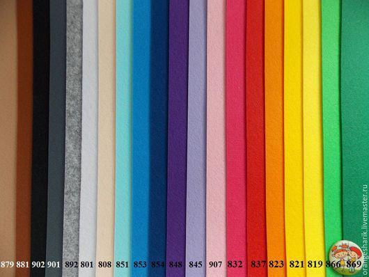 Другие виды рукоделия ручной работы. Ярмарка Мастеров - ручная работа. Купить Фетр жёсткий корейский 1,2мм листовой. Handmade.