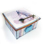 """Для дома и интерьера ручной работы. Ярмарка Мастеров - ручная работа """"Заячьи сказки"""" Короб-шкатуль для чая и других мелочей. Handmade."""