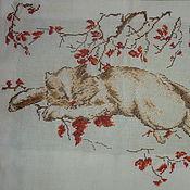 Картины и панно ручной работы. Ярмарка Мастеров - ручная работа ручная вышивка (27смх34см). Handmade.