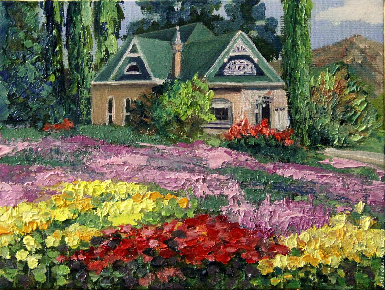 Домик с цветами фото