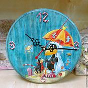 Для дома и интерьера ручной работы. Ярмарка Мастеров - ручная работа Набор Часы и панно Маленький ворон идет в школу. Handmade.