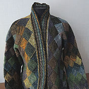 Одежда handmade. Livemaster - original item Peter cardigan knitted from Noro. Handmade.