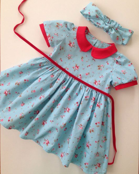 Одежда для девочек, ручной работы. Ярмарка Мастеров - ручная работа. Купить Платье с воротничком. Handmade. Платье, платье на заказ, солоха