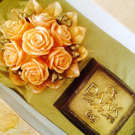"""Мыло ручной работы. Ярмарка Мастеров - ручная работа. Купить Набор""""Золотой шоколад""""Подарок девушке на 8 марта. Handmade. Комбинированный"""